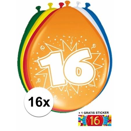 16 jaar verjaardag placemats bij Speelgoed voordeel, altijd
